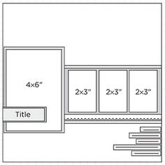 Scrapbook Page Sketch 227