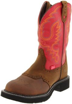 Justin Boots Women's Gypsy Boot,Brown/Red,5 B US Justin Boots,http://www.amazon.com/dp/B001PRQJRK/ref=cm_sw_r_pi_dp_ufEksb0Y0SZEAPNN