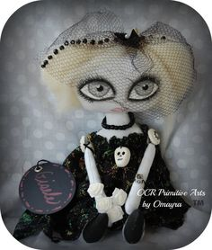 Gisele OOAk Collectable Art Doll by OCRPrimitiveArts on Etsy, $45.00