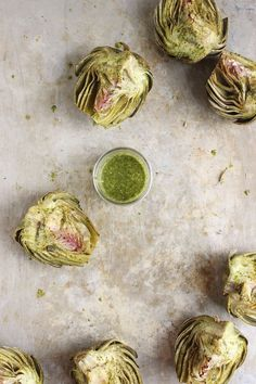 Basil Brushed Roasted Artichokes | With Food + Love | #glutenfree #paleo #vegan