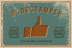 Woodstamper — Vector Texture Action by Pavle on Creative Market