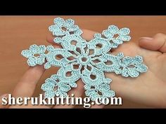 Simple Crochet Snowflake Tutorial 30 Decoration for Christmas Ttee