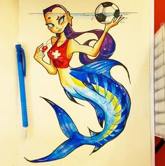"Ceri Langell on Instagram: ""Echo! One of my favorite mermaids from @rescuesirens, drawn by one of my biggest inspirations @chrissandersart .#copicanime #comicartist…"" Comic Artist, Sirens, Copic, Mermaids, Enchanted, Fan Art, Draw, Big, Anime"