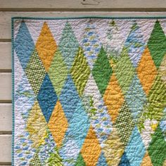 diamond trick - love the colors too!! | i QUILT | Pinterest ... : diamond quilts - Adamdwight.com
