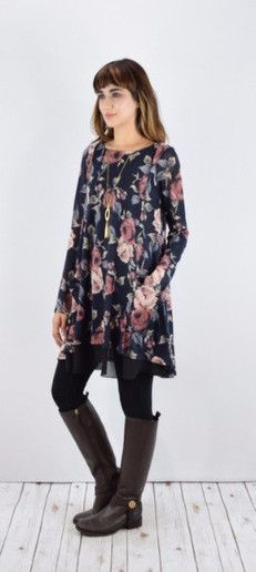 Cute modest tunic, with chiffon layer | Modest clothing