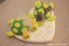 turtles Wedding Cake Topper