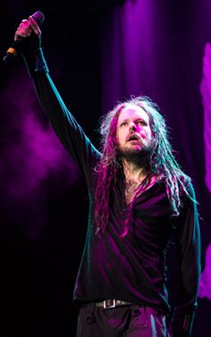 Jonathan Davis of Korn performs in Fort Lauderdale, Florida.