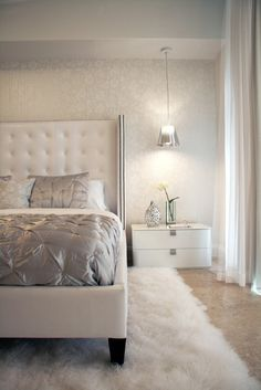 Color theme for bedroom. Contemporary Bedroom Design, Pictures, Remodel, Decor and Ideas - page 12 Contemporary Bedroom, Modern Bedroom, Trendy Bedroom, Contemporary Design, Contemporary Classic, Dream Bedroom, Master Bedroom, Woman Bedroom, Decoration Gris