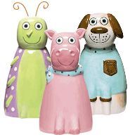 "Ceramic Bank $9.99 every kid needs a piggy bank!! Made of polished ceramic and standing more than 8"" tall"