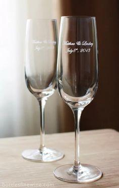 Dos Copas Champagne Cristal Grabado En Caja Boda Aniversario - $ 680,00 en Mercado Libre