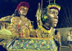 Cabeça de índia e busto de índio - Artista Hugo Krüger -  Escultura em Fibra de vidro e resina poliéster