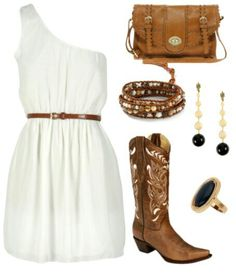 Country Outfit Idea For Summer Concert