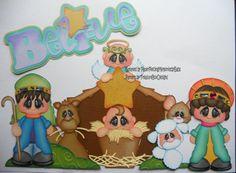 Christmas Nativity (Scrapbook Paper Piecings)