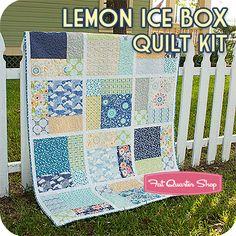 Lemon Ice Box Quilt Kit Featuring Sunnyside by Kate Spain - Fat Quarter Shop