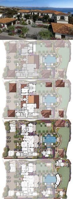 Estate 20 – Espiritu, Palmilla Bay, Los Cabos at Villas del Mar - Architektur House Plans Mansion, Sims House Plans, House Layout Plans, Luxury House Plans, Dream House Plans, Modern House Plans, House Layouts, House Floor Plans, Minecraft Houses Blueprints