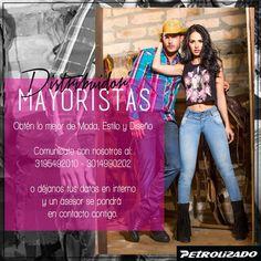 Sé parte de nuestra Red de Clientes Mayoristas y distribuye nuestras prendas al mejor precio y calidad 100% colombiana. #PetrolizadoJeans #modacolombiana