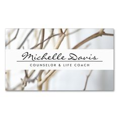 Elegant Name with Tree Branches Double-Sided Standard Business Cards (Pack Of 100). This is a fully customizable business card and available on several paper types for your needs. You can upload your own image or use the image as is. Just click this template to get started!