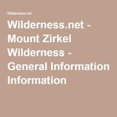 Wilderness.net - Mount Zirkel Wilderness - General Information
