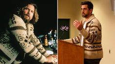 "The Green Bay Packers quarterback wore the sweater made famous by The Dude in the film ""The Big Lebowski"" at his postgame press conference."