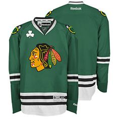 Get this Chicago Blackhawks Customized Green Premier Jersey w/ Authentic Lettering at ChicagoTeamStore.com