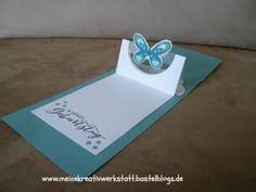 Pop up Karte, Stampin up, Watercolor Wings