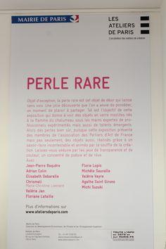 """Exposition """"Perle rare"""" du 28.11 au 18.01.2014"""