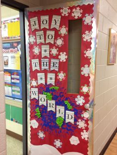 Joy to the World! Classroom Christmas Door decorations!