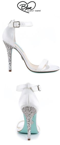 Something Blue by Betsey Johnson's White Bells - Ivory Satin @Rebecca Russell