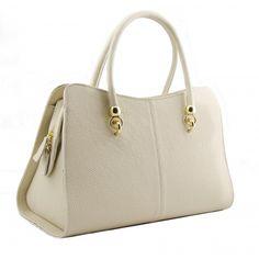 Italian Made, Genuine Leather Handbag - Mari White Sky White Sky, How To Make Handbags, Leather Handbags, Italy, Shoulder Bag, Leather Totes, Italia, Shoulder Bags, Leather Purses