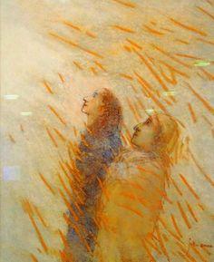 Juke Hudig, La Divina Commedia in pastels, aanschouwing van het hemels licht