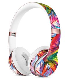 Vibrant Colorful Feathers Full-Body Skin Kit for the Beats by Dre Solo 3 Wireless Headphones
