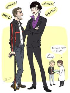 Dr. House/Holmes, Dr. Wilson/Dr. Watson lol