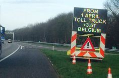 Truckers dwarsbomen Belgische snelwegen