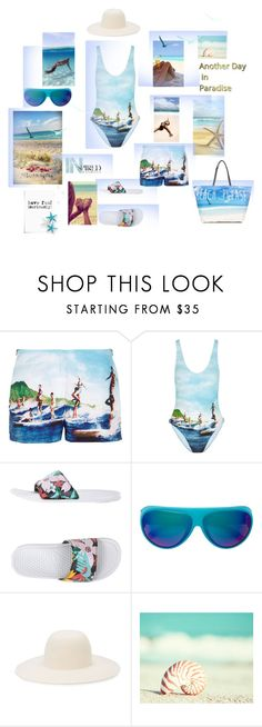 """Another day in paradies..."" by zabead ❤ liked on Polyvore featuring Orlebar Brown, NIKE, Mykita, Off-White, Summer, swimwear and polyvorecommunity"