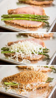 Chicken Breast And Asparagus Recipe, Easy Asparagus Recipes, Baked Asparagus, Chicken Asparagus, Easy Chicken Recipes, Chicken Meals, Healthy Stuffed Chicken, Cheese Stuffed Chicken, Cream Cheese Chicken