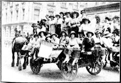 Snapshots of Street Scenes in Sydney Following the Official News of the Armistice - November 1918 - Jubilant Office Girls