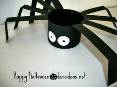 Cómo hacer arañas de cartulina para Halloween