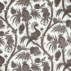 WP88355-007, Balinese Peacock, Java, Scalamandre Wallpapers
