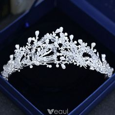 Bridal & Wedding Party Jewelry Sensible 88t Contemporary Marquise Pageant Bridal Silver Plated Crystal Rhinestone Tiara