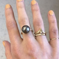 Gems Jewelry, Fine Jewelry, Gold Rings, Gemstone Rings, Pearl Grey, Love Ring, Stacking Rings, Girls Best Friend, Hibiscus