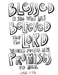 Luke 1 45 Coloring Page On Procreate Quote Coloring Pages Coloring Pages Bible Coloring Pages
