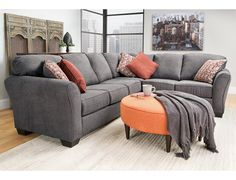 Merveilleux Slumberland | Bergen Collection   Steel 2Pc Sectional