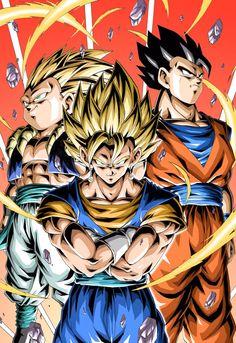 Saiyans by Youngjijii Dragon Ball Gt, Dragon Ball Image, Goku Blue, Otaku, Z Arts, Son Goku, Anime Shows, Animes Wallpapers, Digimon