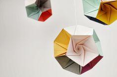 where techy meets pretty + etc: HOW TO: Make a geometric mobile