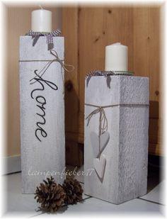 Teelichthalter - Kerzenleuchter mal anders... 40 cm - ein Designerstück von lampenfieber17 bei DaWanda