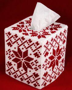 Plastic Canvas Box Patterns, Plastic Canvas Ornaments, Plastic Canvas Tissue Boxes, Plastic Canvas Christmas, Plastic Canvas Crafts, Needlepoint Patterns, Doily Patterns, Tissue Box Crafts, Yarn Crafts