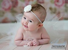 Newborn Tutu- White Tutu- Newborn Photo Prop- Baby Tutu Photography Prop- Ivory Tutu- More Colors Available. $17.95, via Etsy.