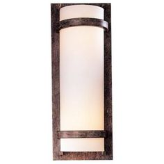 Contemporary Iron Oxide Wall Sconce