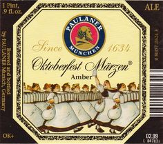 Paulaner Oktoberfest Marzen, Oktoberfest/Märzen 5,6 % ABV (Paulaner Brauerei (Schörghuber), Alemania)  #label