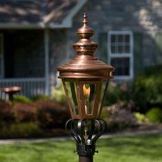 """Averbach Post Mount Gas Lantern - 31"""""""